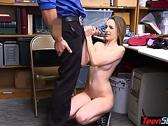 Faux pregnant nubile suspect undressed and punish fucked