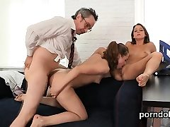 Lovely college girl gets tempted and pounded by elderly te92viw