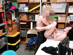 Big-titted thief creampied