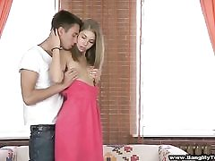 High-heeled teenager model ass-fucked