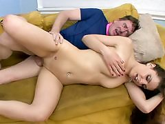 Rachel Ryder Nails Her Step-Dad On the Sofa