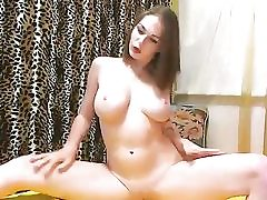 Russian webcam bi-atch in red undergarments uncovers
