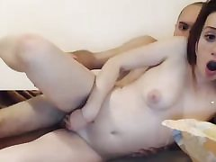 Redhead petite jugged unexperienced smashed on web cam