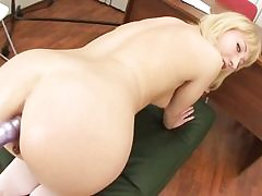 College girl gets big pipe in her taut ass