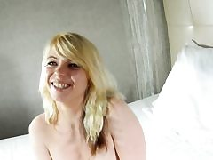 Amazing french blond rides hard meatpipe on webcam