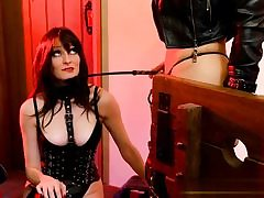 Mind-blowing clad whores posing BDSM video sexually manhandling each other
